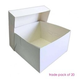 """View the BULK PACK 50 x 10"""" / 254mm cake transportation boxes & lids online at Cake Stuff"""