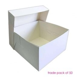 """View the BULK PACK 50 x 8"""" / 203mm cake transportation boxes & lids online at Cake Stuff"""