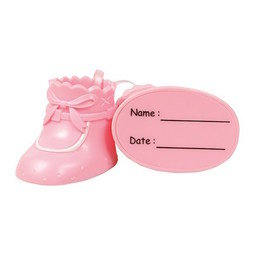 View the pair PINK BOOTEES plastic cake topper decoration online at Cake Stuff