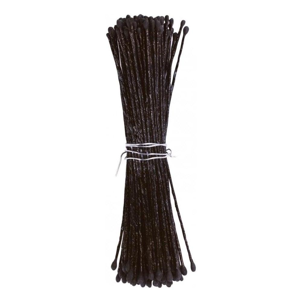View the SMALL BLACK matt sugar flower stamens - pk 144 online at Cake Stuff
