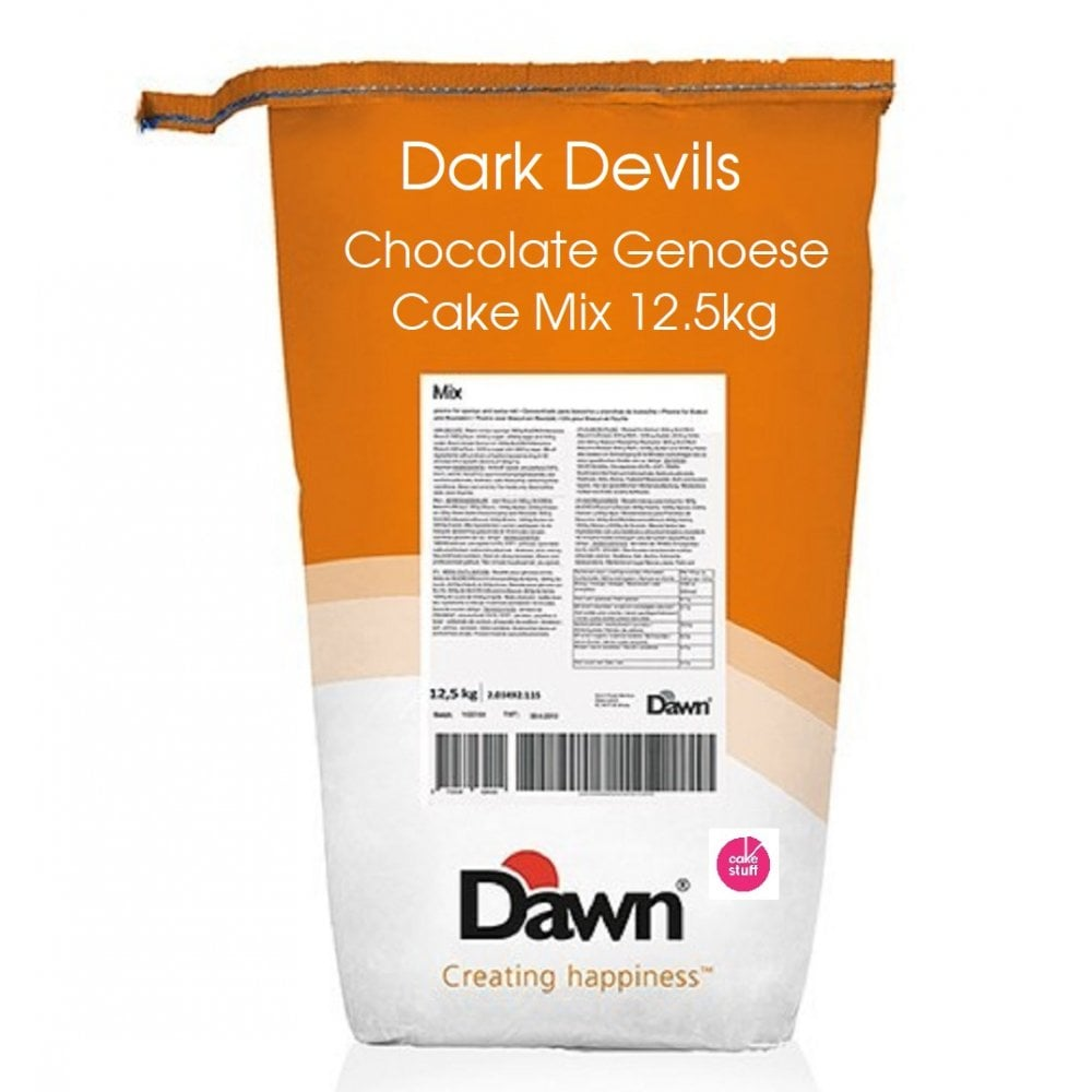 View the Dark Devils Genoese Chocolate cake & cupcake mix 12.5kg online at Cake Stuff