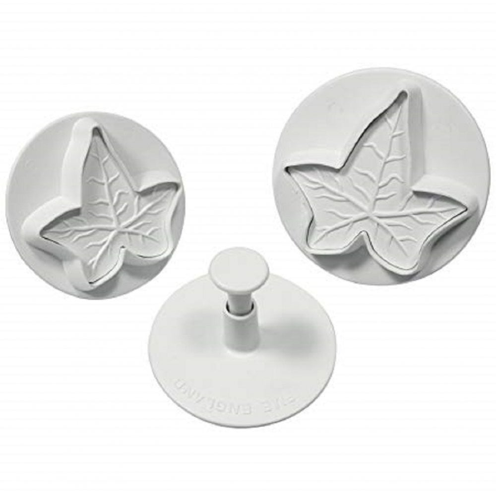View the **CLEARANCE** Ivy Leaf 3 piece plunger icing cutter set online at Cake Stuff