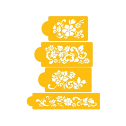 View the FLORAL EXPLOSIONS icing stencil set online at Cake Stuff