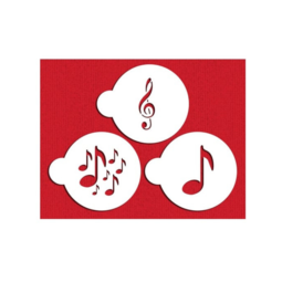 View the MUSICAL 3pc cookie/cake icing stencil set online at Cake Stuff