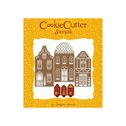 View the THREE TOWNHOUSES SET Martha Stewart cake side icing stencil online at Cake Stuff