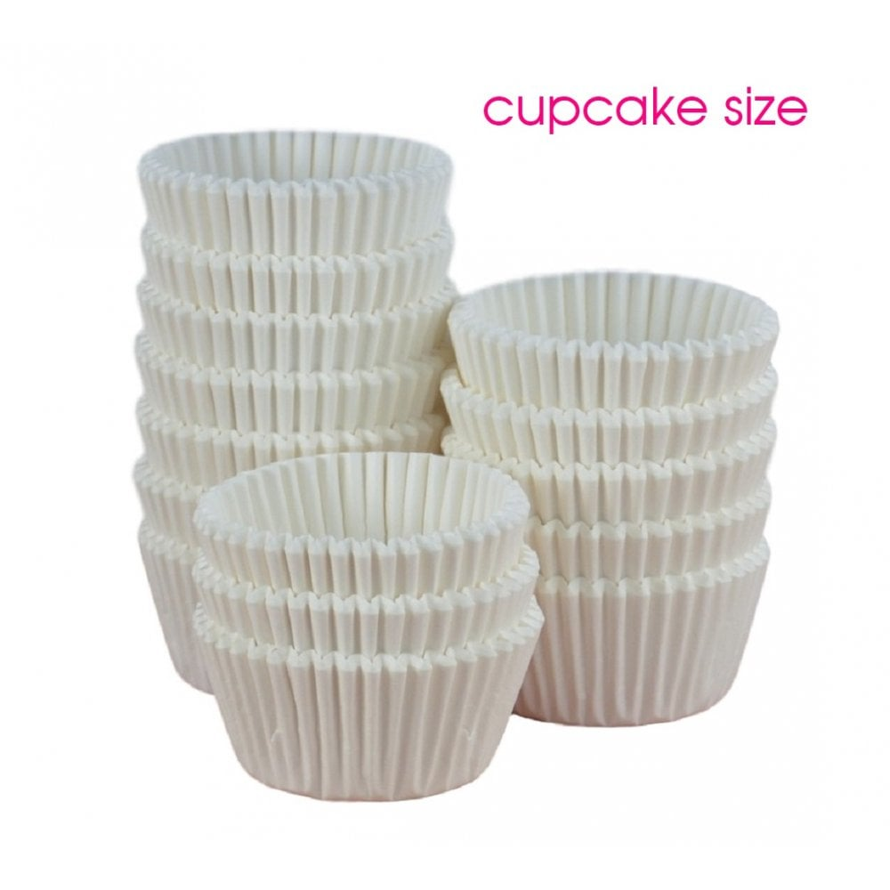 View the bulk pack 500 WHITE professional CUPCAKE baking cases online at Cake Stuff