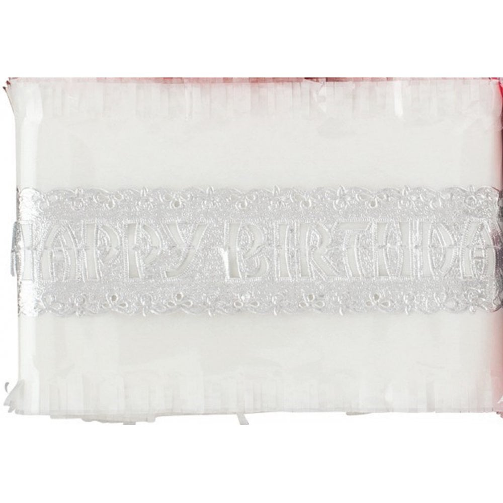 View the WHITE traditional paper cake frill decoration online at Cake Stuff