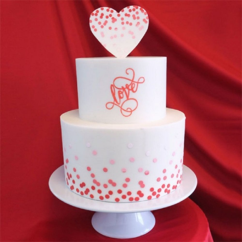 View the Dissipating Small Dots professional cake stencil #6 online at Cake Stuff