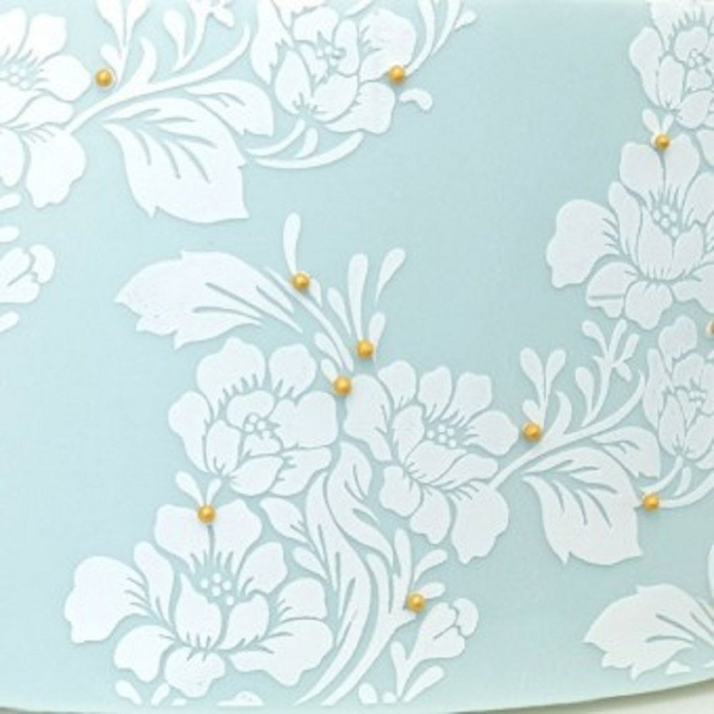 View the Rose Lace standard height professional cake stencil #35SH online at Cake Stuff