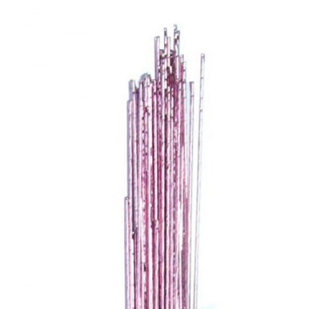 View the 24 gauge PINK metallic sugarcraft floristry wire - pk 50 online at Cake Stuff