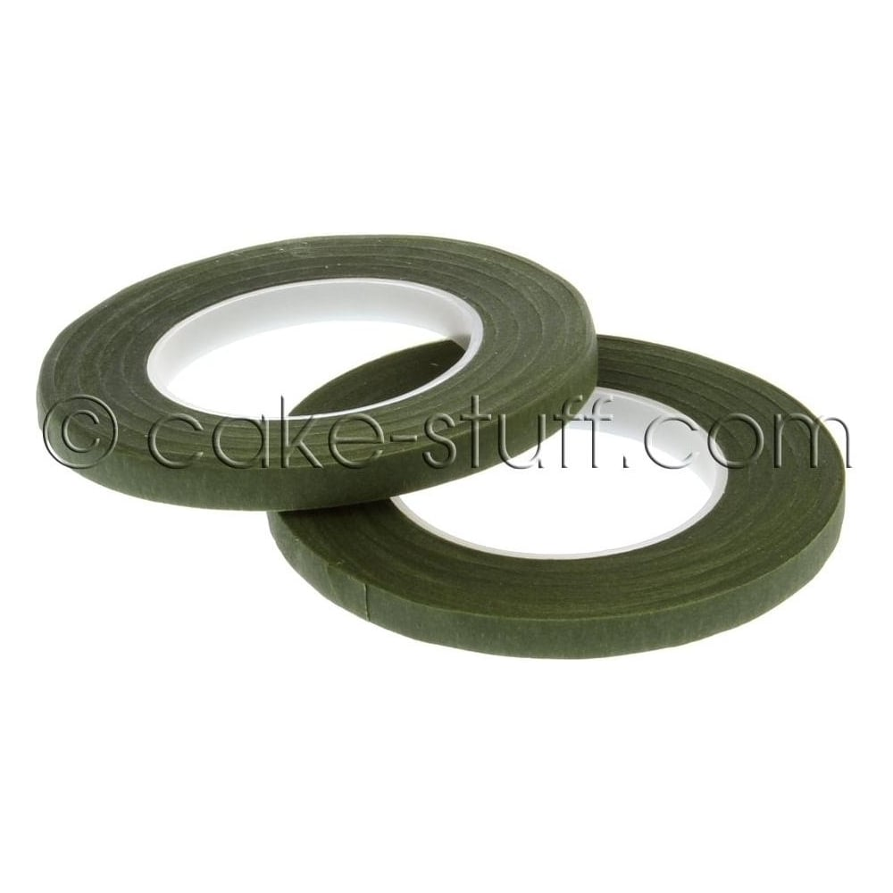 View the DARK GREEN 6mm sugarcraft florist stem tape 2 pk online at Cake Stuff