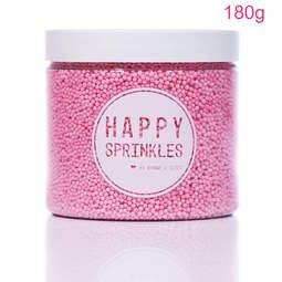 View the 180g PINK 100s & 1000s / Non Pareils mini sugar pearl sprinkles online at Cake Stuff