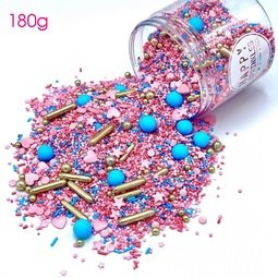 View the 180g ROYAL GLITTER mix edible sugar sprinkle decorations online at Cake Stuff