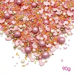 View the 90g BUNNY MIX edible sugar sprinkle decorations online at Cake Stuff