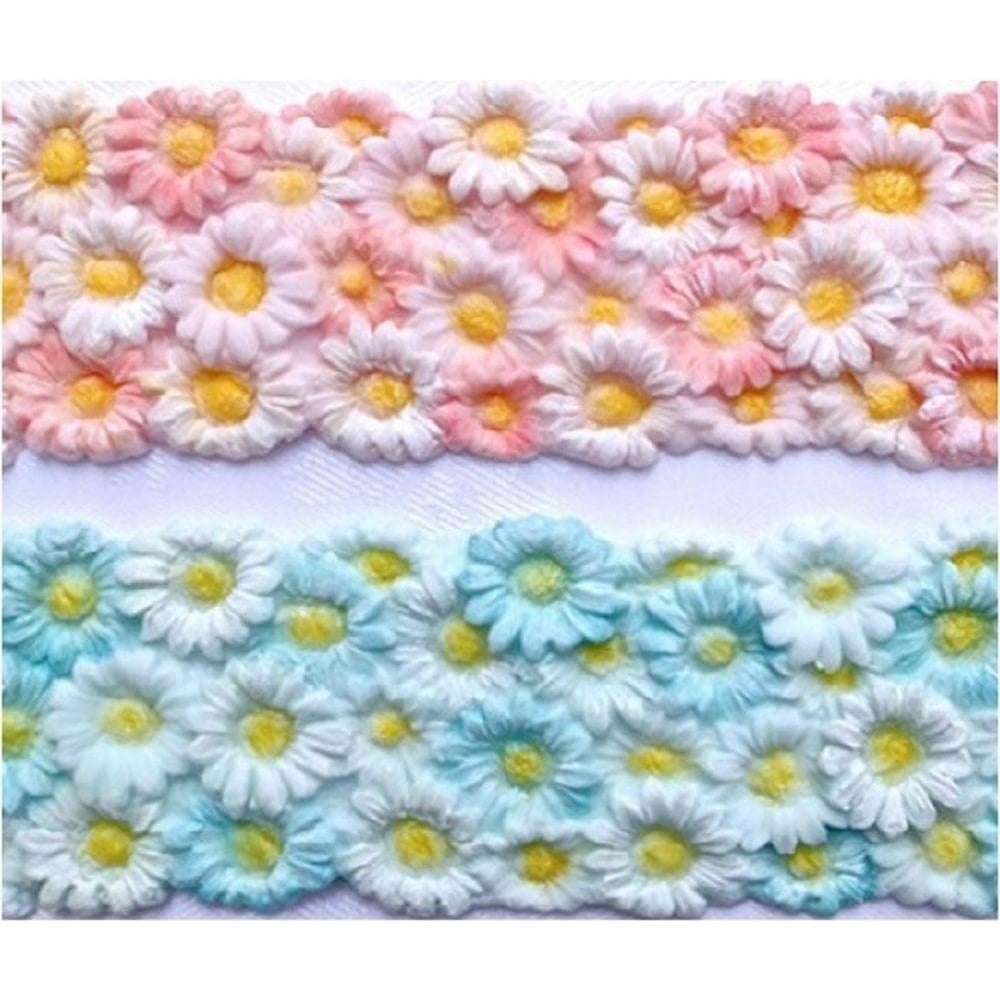 View the Daisy Border silicone icing sugarcraft mould online at Cake Stuff
