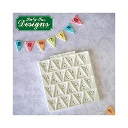 View the Bunting Alphabet design mat silicone icing mould online at Cake Stuff