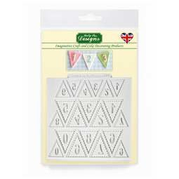 View the Bunting Numbers design mat silicone mould online at Cake Stuff