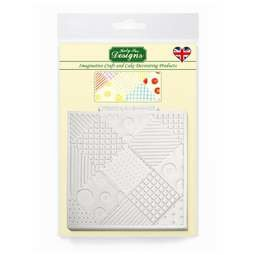 View the Patchwork Quilt design mat silicone sugarcraft mould online at Cake Stuff