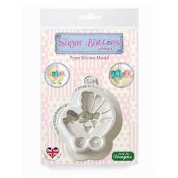 View the PRAM - Sugar Buttons - silicone sugarcraft mould online at Cake Stuff