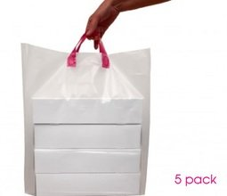 View the 5 cupcake box carrier bags - for hold 12 boxes online at Cake Stuff