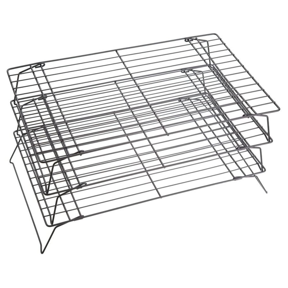 "View the 3 tier non-stick stackable cooling trays racks - 16"" / 40cm online at Cake Stuff"