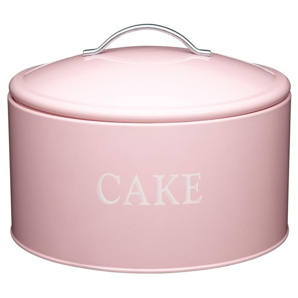 View the jumbo traditional cake storage tin - pink online at Cake Stuff