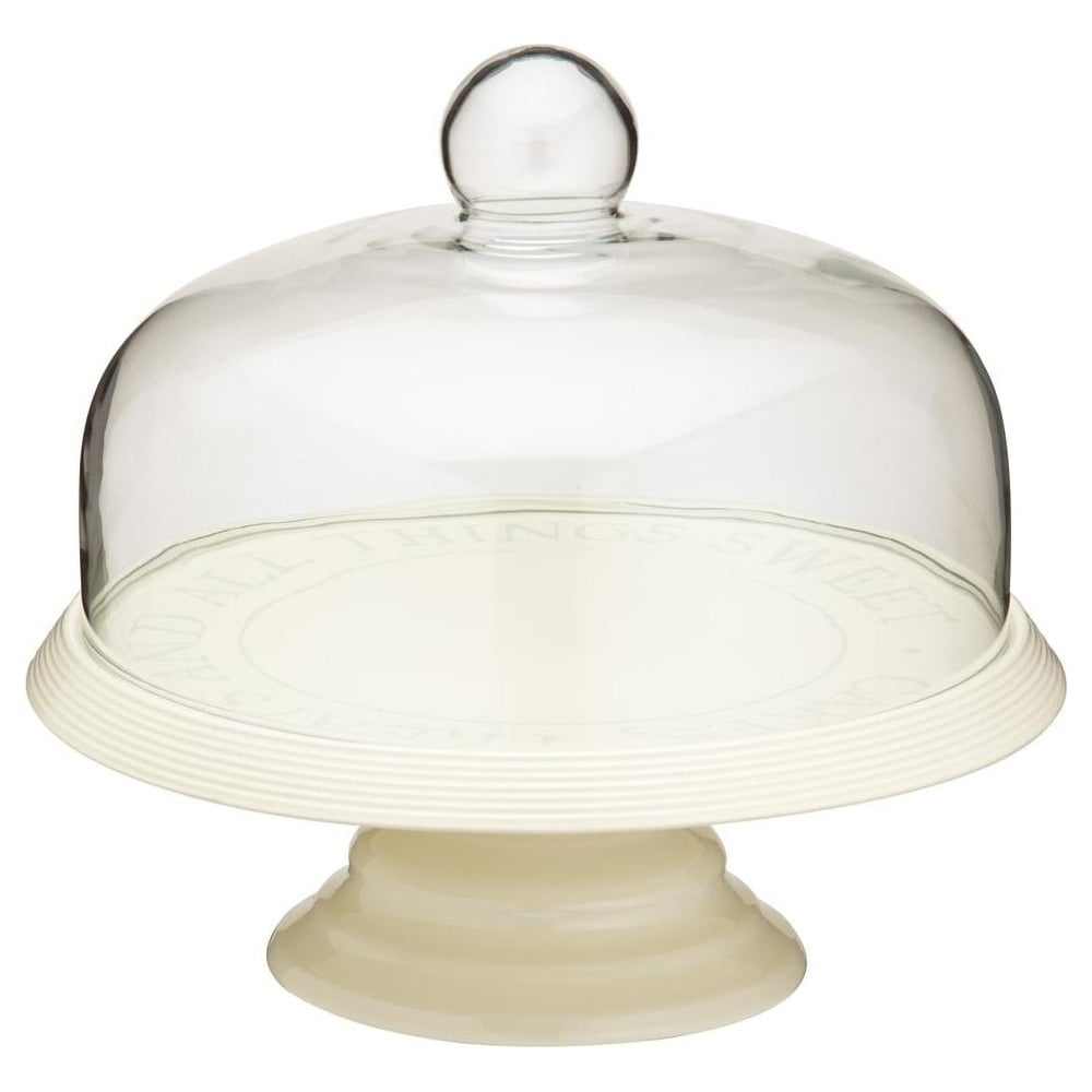 View the traditional ceramic cake stand & glass dome 29cm online at Cake Stuff