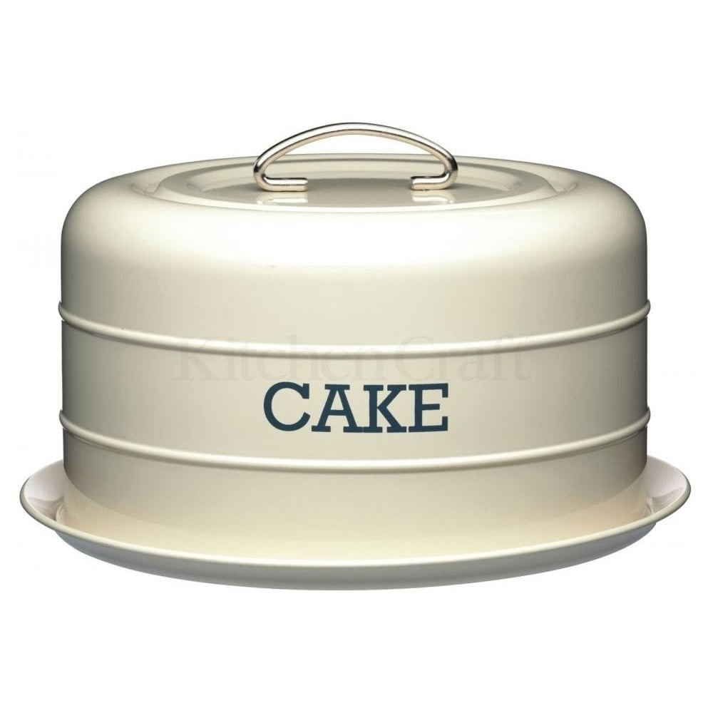 View the traditional steel cake storage tin - cream online at Cake Stuff