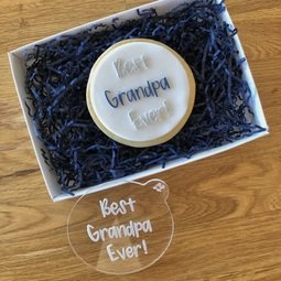 View the BEST GRANDPA EVER ! acrylic cookie & icing embosser  online at Cake Stuff