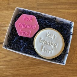 View the BEST GRANDPA EVER ! cookie & icing stamp online at Cake Stuff