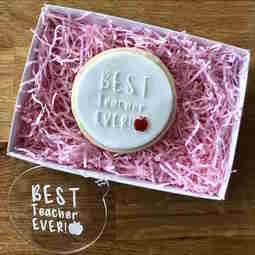 View the BEST TEACHER EVER cookie & icing embosser  online at Cake Stuff