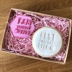 View the BEST TEACHER EVER cookie & icing stamp online at Cake Stuff