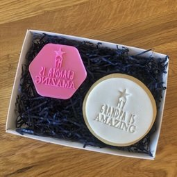 View the MY GRANDPA IS AMAZING cookie & icing stamp online at Cake Stuff