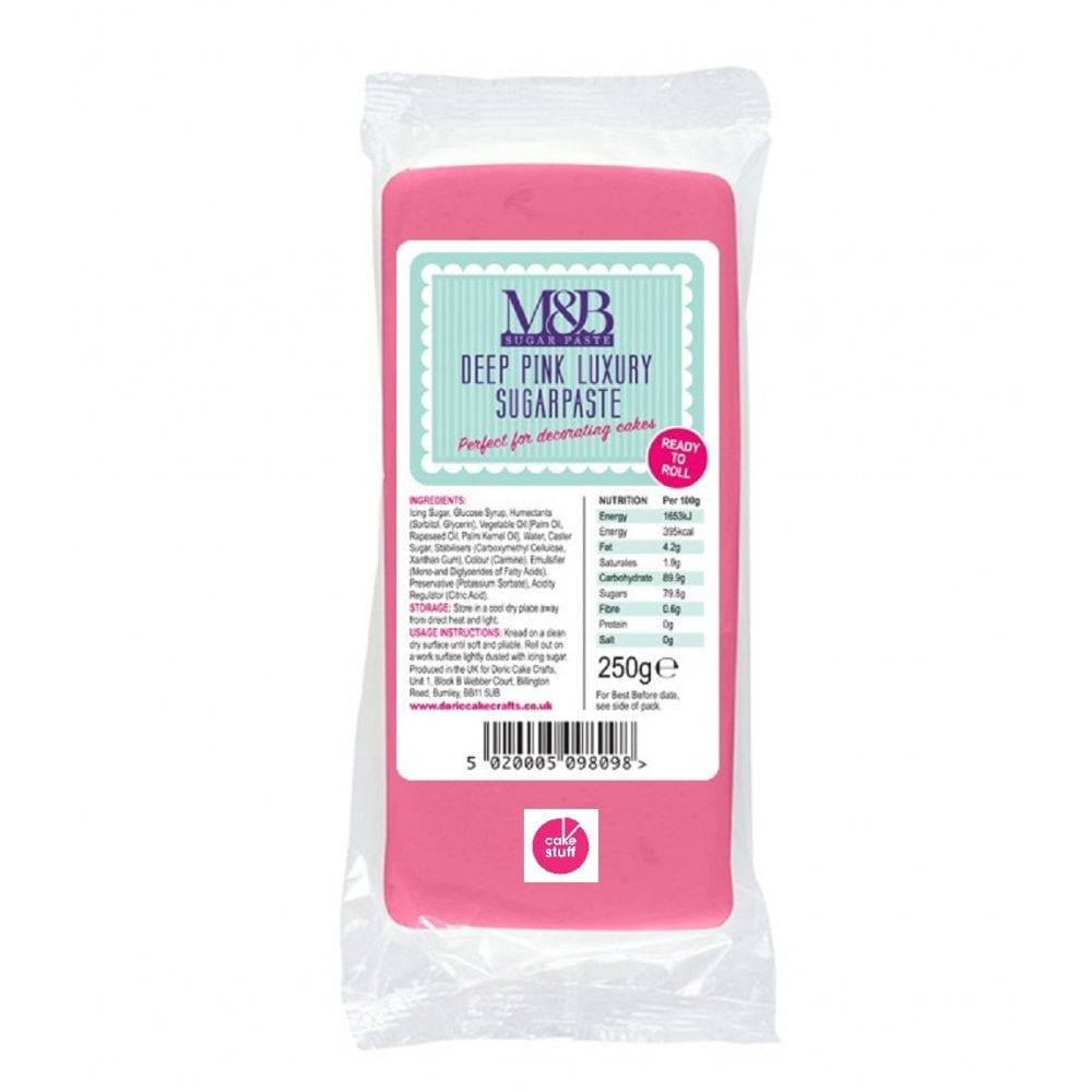 View the 250g Deep Pink ready to roll fondant sugarpaste icing online at Cake Stuff