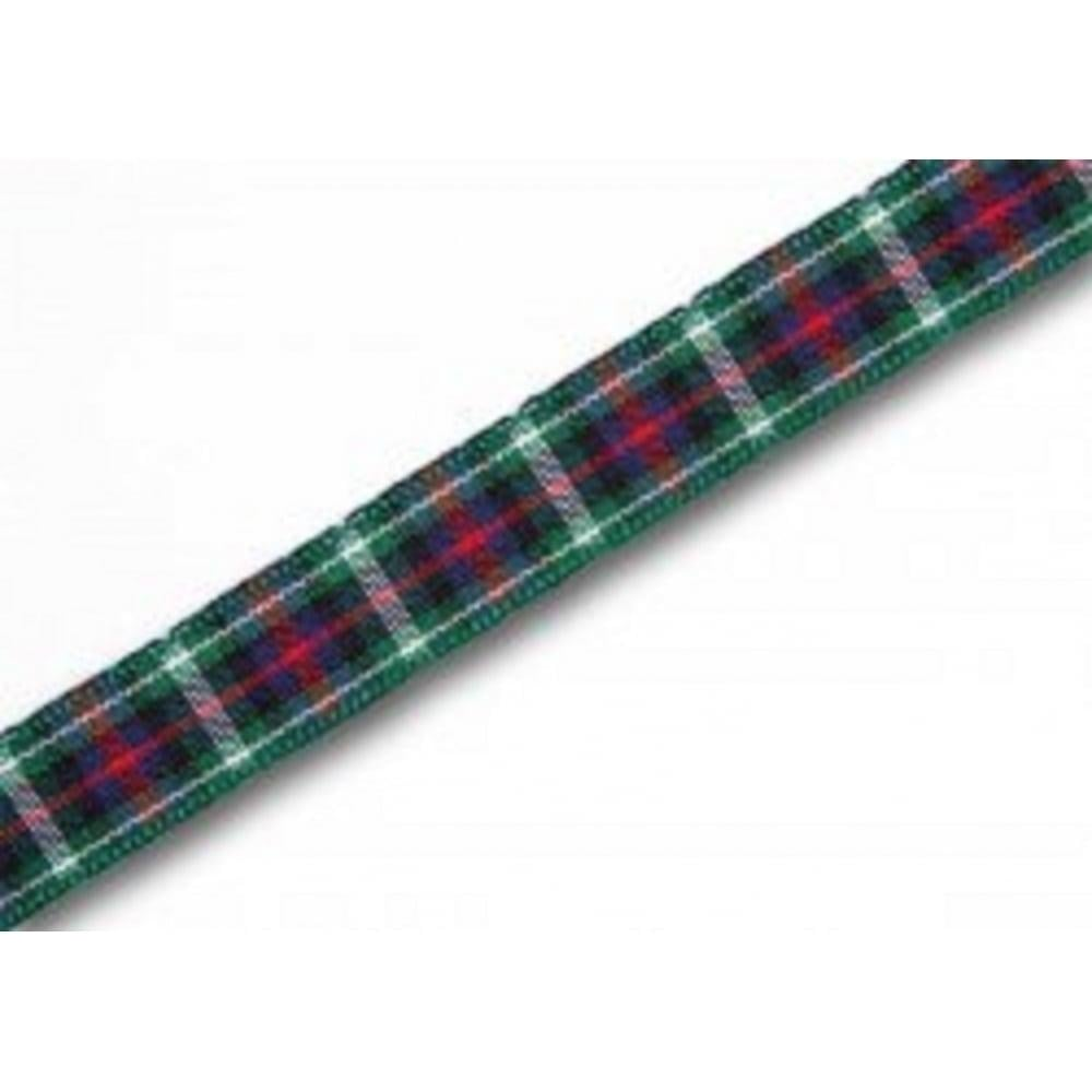 View the MacKenzie 10mm Scottish tartan plaid ribbon x 25m reel online at Cake Stuff