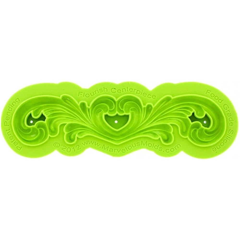 View the FLOURISH SWIRL CENTREPIECE silicone icing mould set online at Cake Stuff