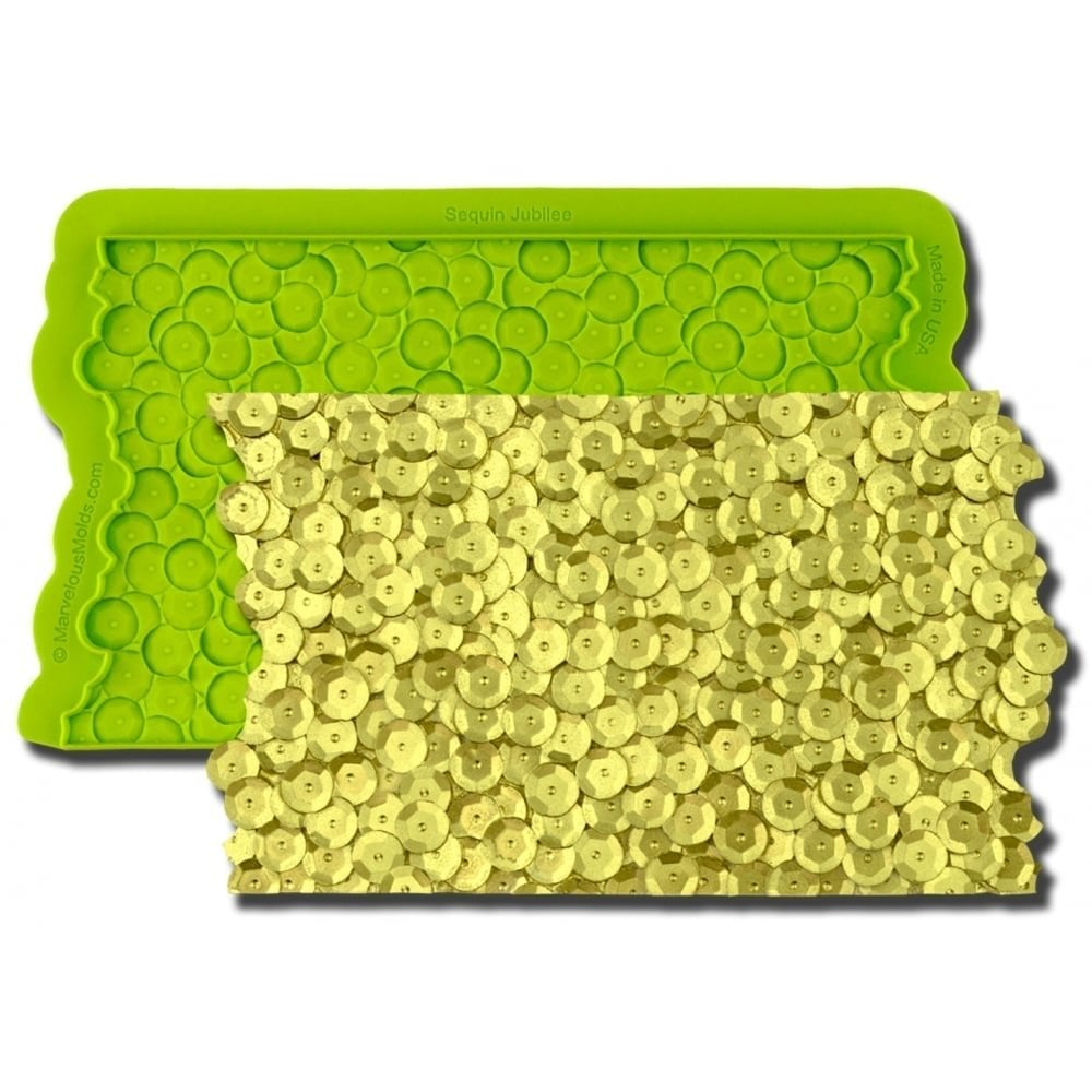 View the SEQUIN JUBILEE Simpress silicone sugarcraft icing mould online at Cake Stuff
