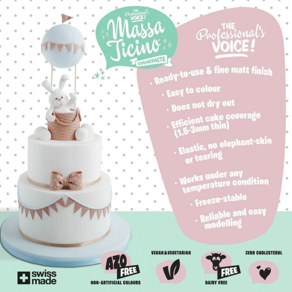 View the 7kg TROPIC BRIDE WHITE sugarpaste ready to roll fondant icing online at Cake Stuff