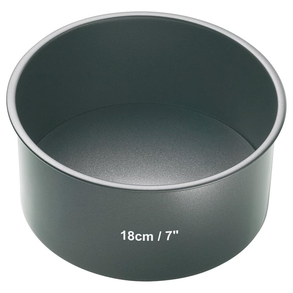 "View the 7"" / 18cm round non-stick loose base deep cake tin online at Cake Stuff"