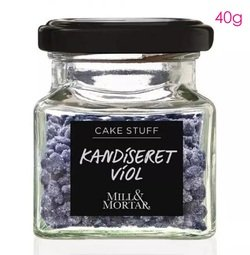 View the real VIOLET flower petals - edible candied fragments 40g online at Cake Stuff