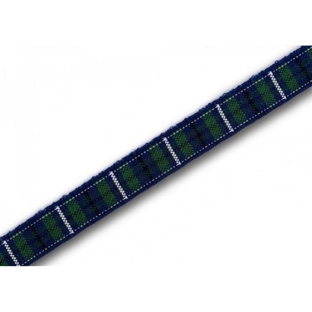 View the Modern Douglas 7mm Scottish tartan plaid ribbon x 25m reel online at Cake Stuff