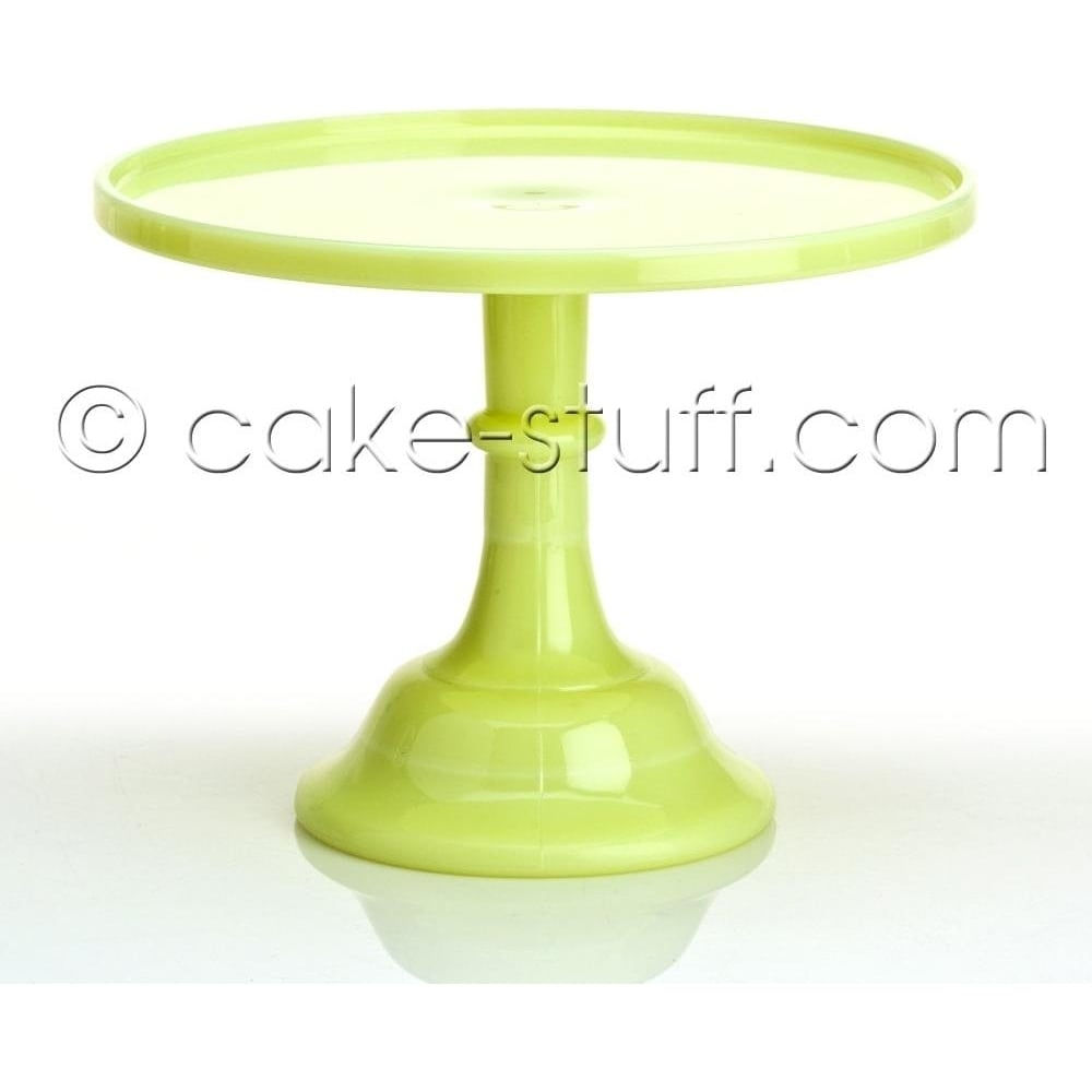 "View the 10"" milk glass cake pedestal stand - Butter Cream online at Cake Stuff"