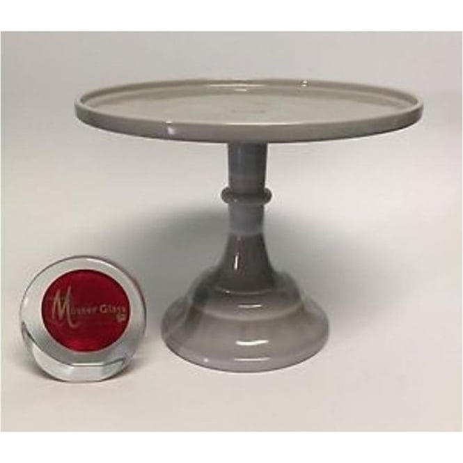 "View the 10"" milk glass cake pedestal stand - Marble online at Cake Stuff"
