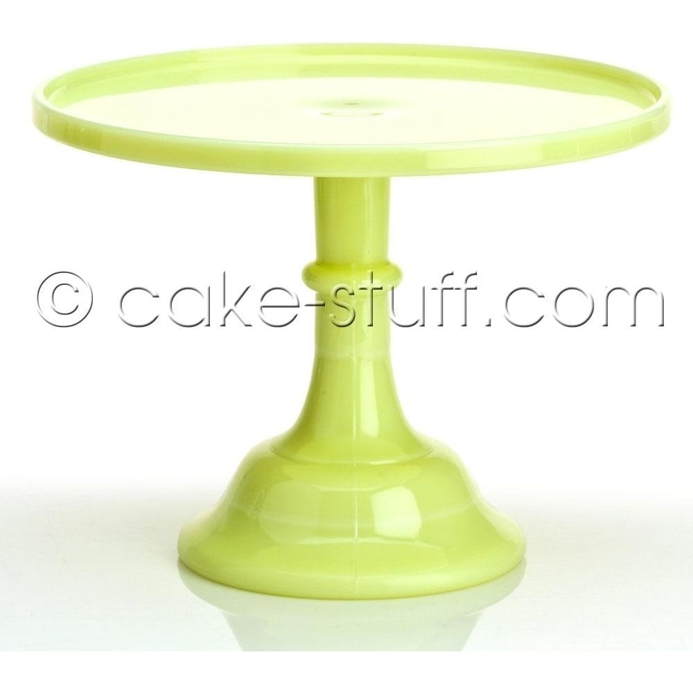 "View the 12"" milk glass cake pedestal stand - Butter Cream online at Cake Stuff"