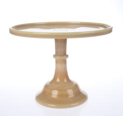 "View the 12"" milk glass cake pedestal stand - Caramel online at Cake Stuff"