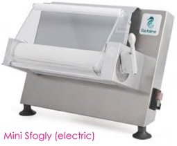 View the MINI SFOGLY professional electric sugarpaste sheeter online at Cake Stuff