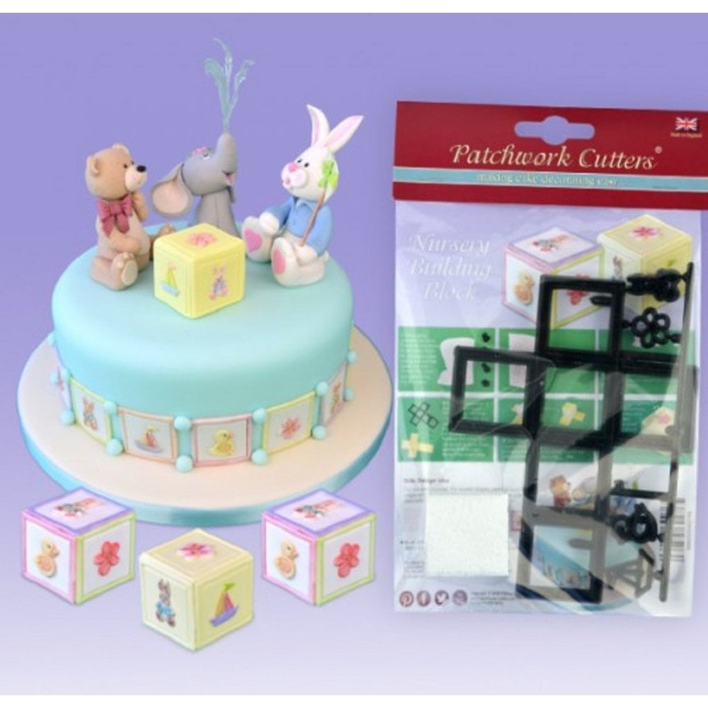 View the 3D NURSERY BUILDING BLOCK 6 pc icing sugarcraft cutter set online at Cake Stuff