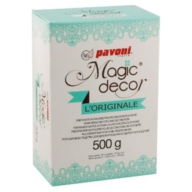 View the 500g ORIGINAL Magic Decor cake / edible lace POWDER online at Cake Stuff