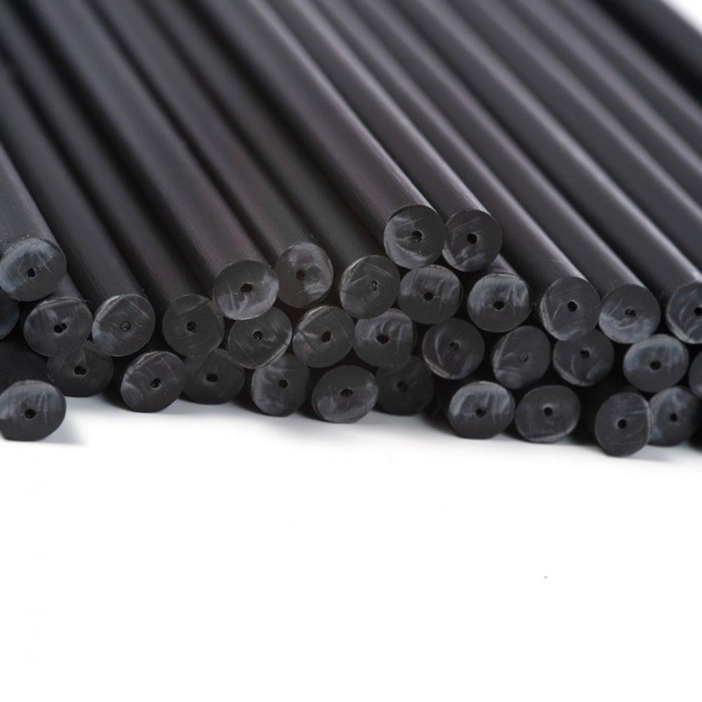 "View the 50 BLACK 114mm / 4½"" plastic cake pop sticks online at Cake Stuff"