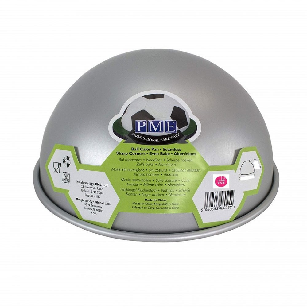 "View the 6"" x 3"" medium professional BALL aluminium cake tin pan online at Cake Stuff"